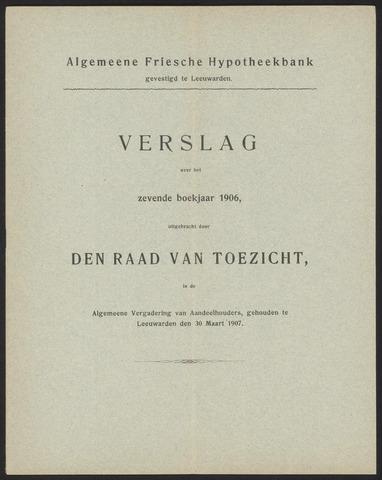 Jaarverslagen Algemeene Friesche Hypotheekbank 1906