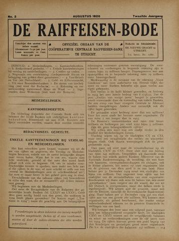 blad 'De Raiffeisen-bode' (CCRB) 1926-08-01