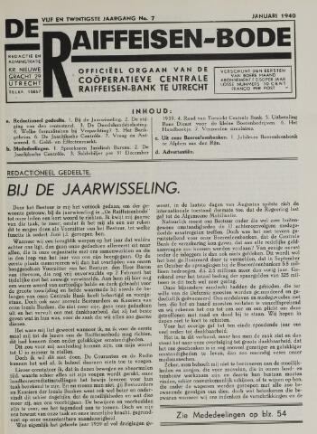 blad 'De Raiffeisen-bode' (CCRB) 1940