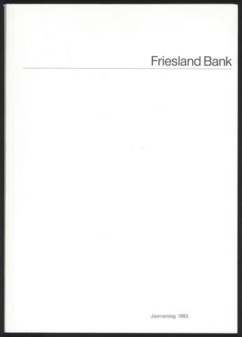 Jaarverslagen Friesland Bank 1993