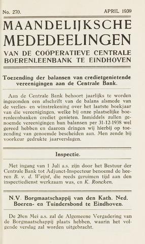 blad 'Maandelijkse Mededelingen' (CCB) 1939-04-01