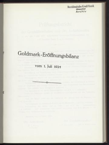 Geschäftsberichte Bankhaus Schröder 1924-01-01