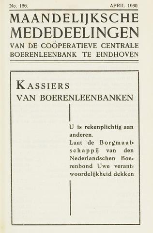 blad 'Maandelijkse Mededelingen' (CCB) 1930-04-01