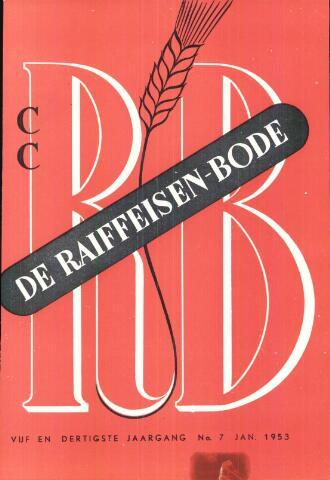 blad 'De Raiffeisen-bode' (CCRB) 1953