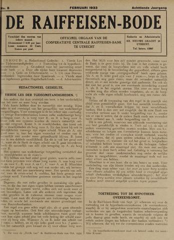 blad 'De Raiffeisen-bode' (CCRB) 1933-02-01