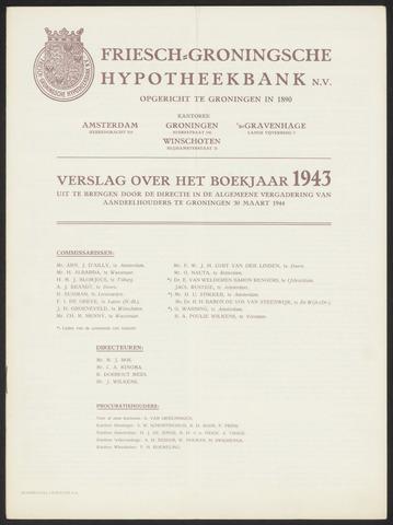Jaarverslagen Friesch-Groningsche Hypotheekbank / FGH Bank 1943