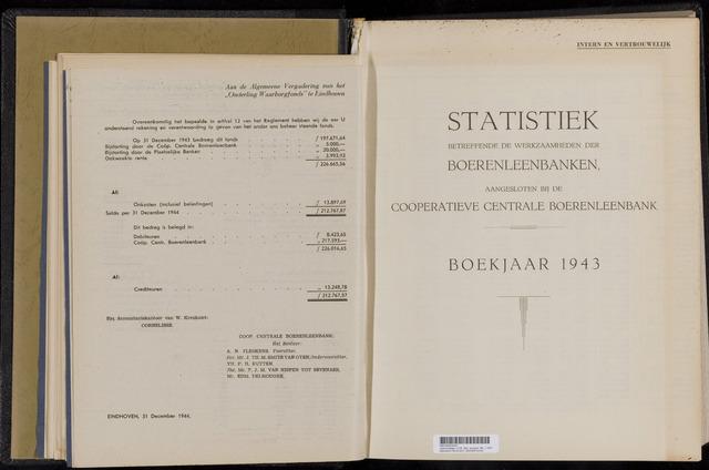 Statistiek aangesloten banken CCB 1943