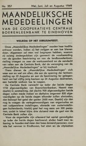 blad 'Maandelijkse Mededelingen' (CCB) 1949-05-01
