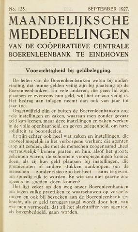 blad 'Maandelijkse Mededelingen' (CCB) 1927-09-01