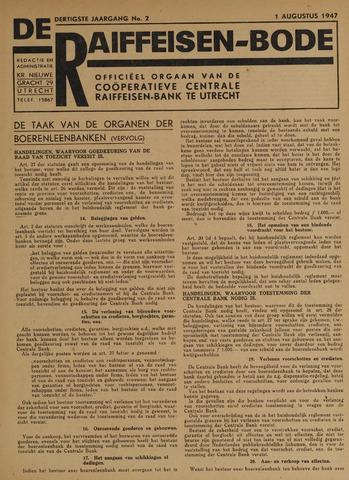 blad 'De Raiffeisen-bode' (CCRB) 1947-08-01