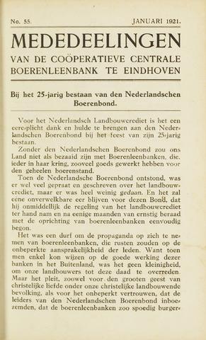 blad 'Maandelijkse Mededelingen' (CCB) 1921