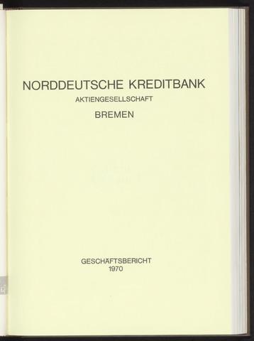 Geschäftsberichte Norddeutsche Kreditbank 1970-01-01