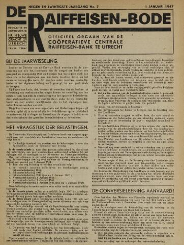 blad 'De Raiffeisen-bode' (CCRB) 1947-01-01