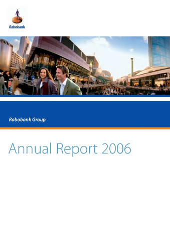 Annual Reports Rabobank 2006