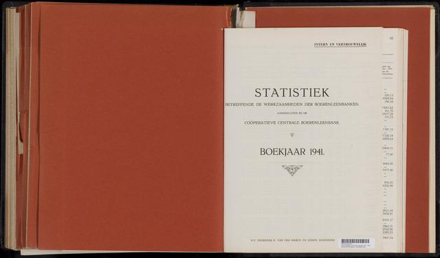 Statistiek aangesloten banken CCB 1941