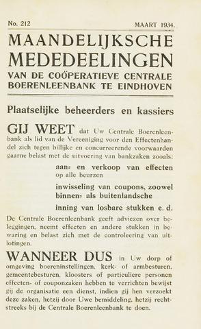 blad 'Maandelijkse Mededelingen' (CCB) 1934-03-01