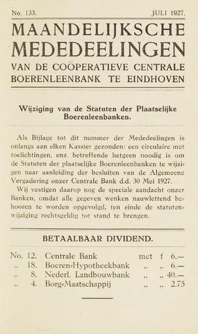 blad 'Maandelijkse Mededelingen' (CCB) 1927-07-01