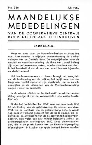 blad 'Maandelijkse Mededelingen' (CCB) 1950-07-01