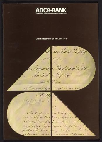 Geschäftsberichte Allgemeine Deutsche Credit-Anstalt / ADCA Bank 1978