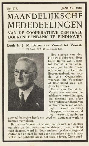 blad 'Maandelijkse Mededelingen' (CCB) 1940-01-01