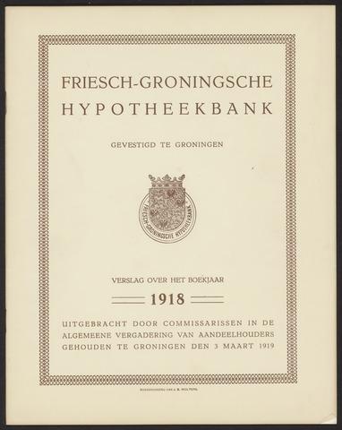 Jaarverslagen Friesch-Groningsche Hypotheekbank / FGH Bank 1918