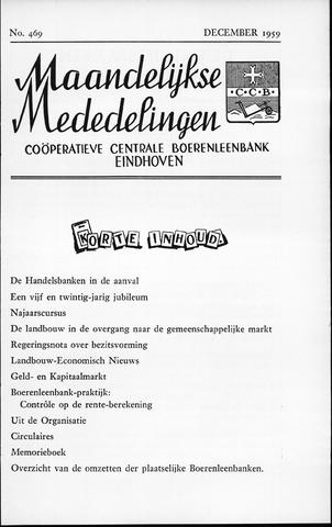 blad 'Maandelijkse Mededelingen' (CCB) 1959-12-01