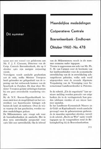 blad 'Maandelijkse Mededelingen' (CCB) 1960-10-01