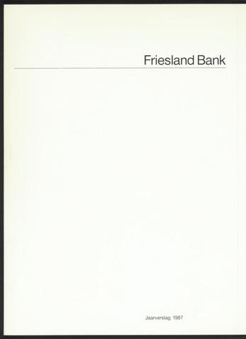 Jaarverslagen Friesland Bank 1987