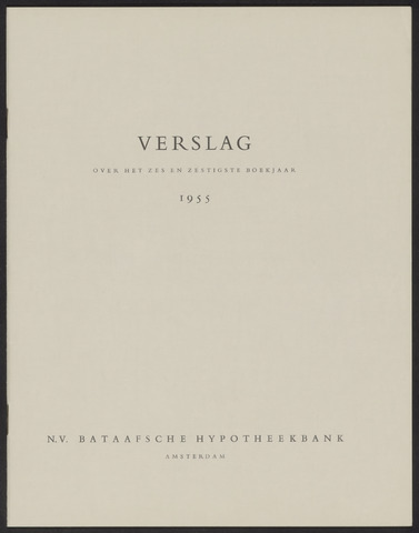 Jaarverslagen Bataafsche Hypotheekbank 1955