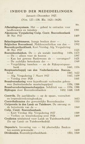 blad 'Maandelijkse Mededelingen' (CCB) 1927