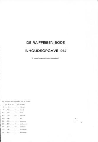 blad 'De Raiffeisen-bode' (CCRB) 1967-01-01