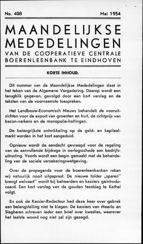 blad 'Maandelijkse Mededelingen' (CCB) 1954-05-01