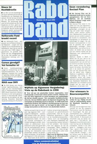 blad 'Raboband' 1993-06-21