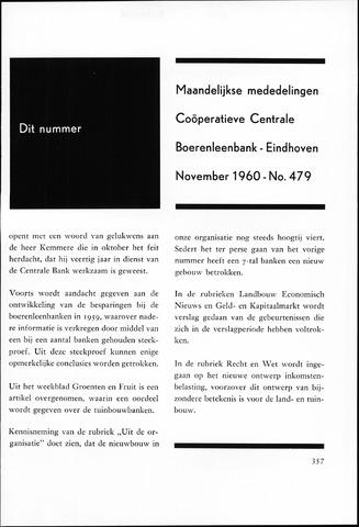 blad 'Maandelijkse Mededelingen' (CCB) 1960-11-01