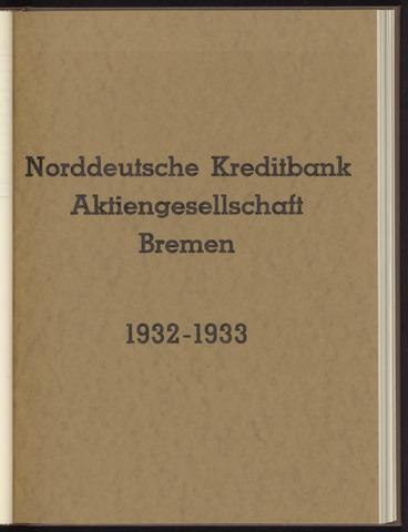 Geschäftsberichte Norddeutsche Kreditbank 1932-01-01
