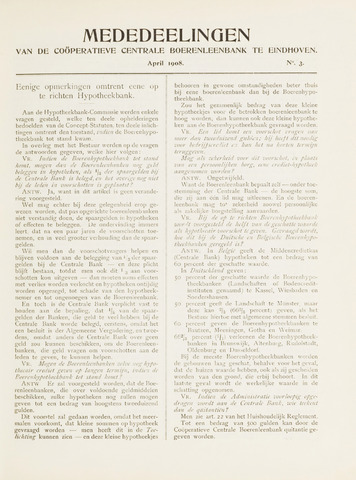blad 'Mededeelingen' (CCB) 1908-04-01