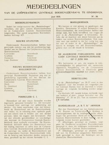 blad 'Mededeelingen' (CCB) 1918-06-01