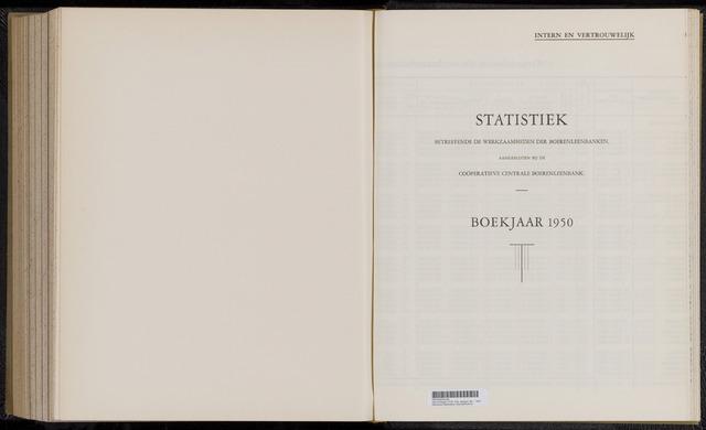 Statistiek aangesloten banken CCB 1950-12-31