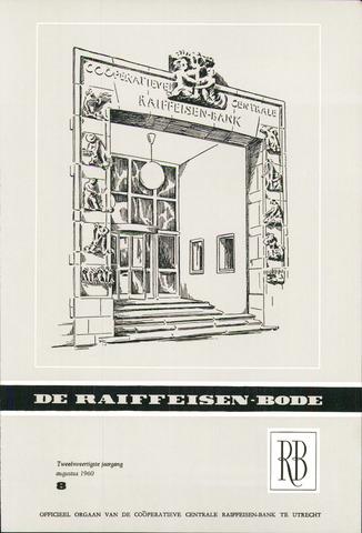 blad 'De Raiffeisen-bode' (CCRB) 1960-08-01