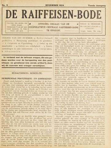 blad 'De Raiffeisen-bode' (CCRB) 1924-11-01
