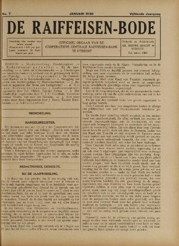 blad 'De Raiffeisen-bode' (CCRB) 1930-01-01