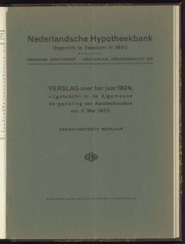 Jaarverslagen Nederlandsche Hypotheekbank 1924