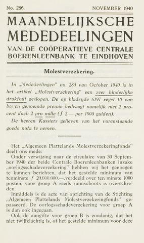 blad 'Maandelijkse Mededelingen' (CCB) 1940-11-01