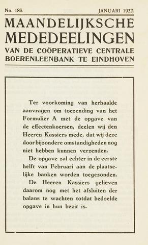 blad 'Maandelijkse Mededelingen' (CCB) 1932