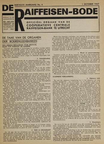 blad 'De Raiffeisen-bode' (CCRB) 1947-10-01