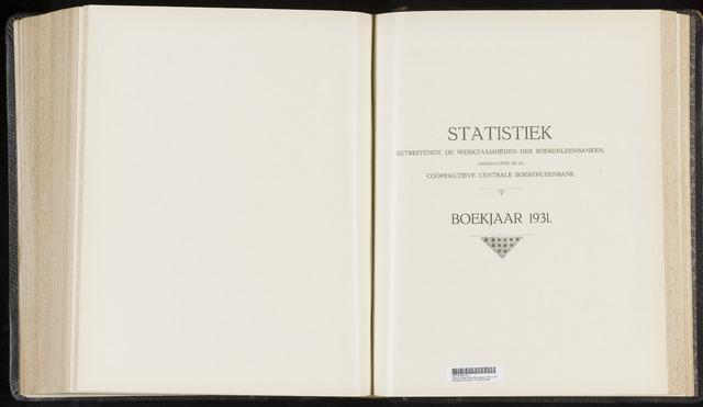 Statistiek aangesloten banken CCB 1931