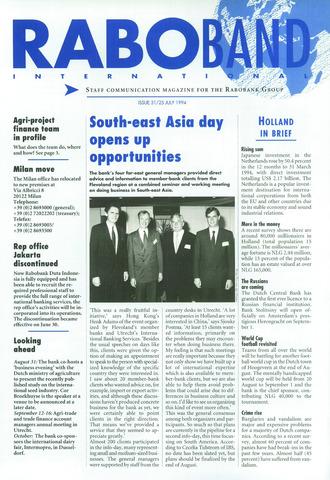 blad 'Raboband International' (EN) 1994-07-25