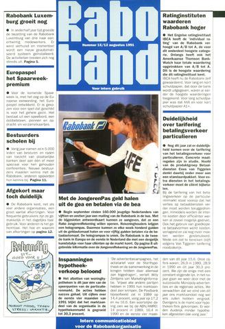 blad 'Raboband' 1991-08-12