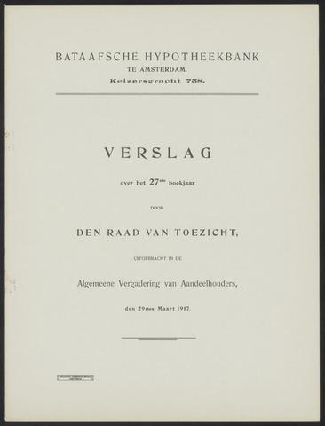 Jaarverslagen Bataafsche Hypotheekbank 1916