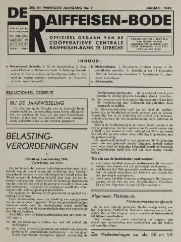 blad 'De Raiffeisen-bode' (CCRB) 1941